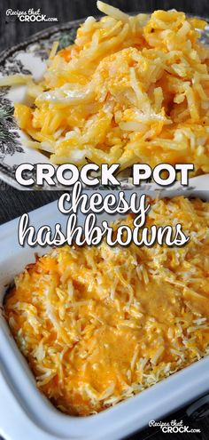 Crock Pot Cheesy Hashbrowns - Recipes That Crock! Whether you want a treat at home or want to a take an outstanding recipe to a cookout, this Crock Pot Cheesy Hashbrowns recipe is sure to fit the bill! Crockpot Cheesy Hashbrowns, Crockpot Hashbrown Casserole, Frozen Hashbrown Recipes, Casserole Recipes, Shredded Hashbrown Recipes, Crock Pot Slow Cooker, Crock Pot Cooking, Slow Cooker Recipes, Cooking Recipes