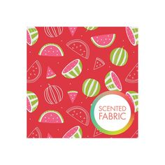 Watermelon scented fabric with watermelon print by Camolot designs studio by osewcrazygalfabrics on Etsy