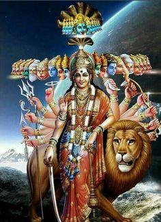 Names Of Goddess Durga, Goddess Lakshmi, Gods And Goddesses, Durga Kali, Shiva Shakti, Krishna Avatar, Durga Images, Indian Goddess, Shiva Wallpaper