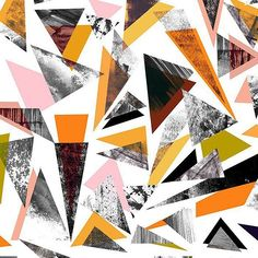 """""""Textured Triangles"""" - Graphic Art Print by Oana Prints. Pattern Dots, Doodle Pattern, Pattern Texture, Surface Pattern Design, Texture Art, Geometric Patterns, Geometric Designs, Textile Patterns, Abstract Pattern"""