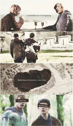 Merlin feels never end. Oh gosh this hurts, cause its the fandom talking but also both Arthur and Merlin and the Knights and Gwen and Gaius......