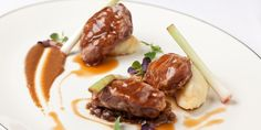 A cheffy pork cheeks concoction from Graham Campbell contains a sublime caraway jus and an intriguing sultana ragu.