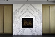 Custom fireplace in Calacatta marble Natural Stone Fireplaces, Calacatta Marble, Custom Fireplace, Natural Stones, Home Decor, Decoration Home, Room Decor, Interior Decorating