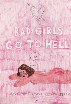 bad girls A4 cardstock print by CaitlinShearer on Etsy