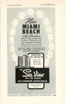 Hotel Advertisement, Advertising, Olympic Swimming, Swimming Pools, Gin Rummy, Free Brochure, Beach Cabana, Beach Color, 50 Years Old