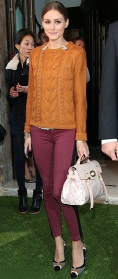 Olivia Palermo tuxedo pants