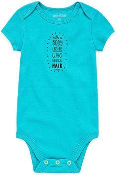 Okie Dokie Slogan Shortsleeve Bodysuit - Baby NB-24M
