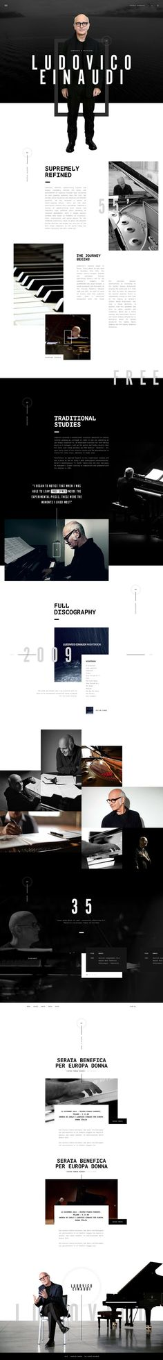 Ludovico Einaudi Web Design by Gene Ross