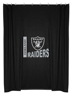 NFL Oakland Raiders Shower Curtain -- Details can be found by clicking on the image.