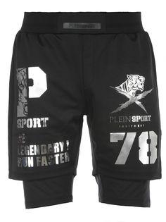 Philipp Plein Shorts In Tessuto Tecnico In Black Mens Cotton Shorts, Men's Outfits, Denim Jeans Men, Bad Boys, Men's Fashion, Swimwear, T Shirt, Pants, Clothes