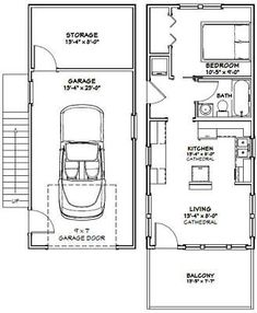 1432 Tiny House 567 sq ft Excellent Floor Plans Backyard sheds plans Tiny House Layout, Tiny House Cabin, Tiny House Design, House Layouts, Garage Floor Plans, Small House Floor Plans, Garage Apartment Plans, Garage Apartments, Garage Renovation