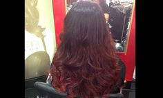 red-balayage-ombre