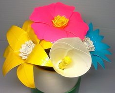 Duct tape flowers so cool I need to learn how to make these!! :)