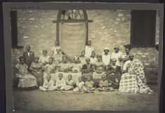 Members of the Blue Cross Society in Aburi in the early days of this work