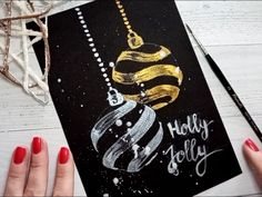 Watercolour Christmas card TUTORIAL for beginner ★ How to paint a watercolour Christmas card ★ Easy and Quick★ Watercolour Christmas card ideas 2019 ★ Watercolour Christmas card DIY★ How to paint pretty Christmas card DIY Christmas Cards Drawing, Painted Christmas Cards, Simple Christmas Cards, Watercolor Christmas Cards, Christmas Tree Cards, Xmas Cards, Christmas Art, Diy Cards, Handmade Christmas