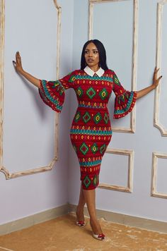 Short Ankara Gown With Collar