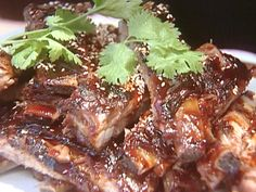 Chinese Spareribs with Teriyaki Glaze Recipe : Tyler Florence : Food Network - FoodNetwork.com