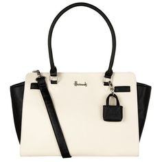 Harrods Novello Two-Tone Shoulder Bag (£49) ❤ liked on Polyvore featuring bags, handbags, shoulder bags, colorblock handbags, two tone handbags, color block handbag, colorblock purse and imitation purses