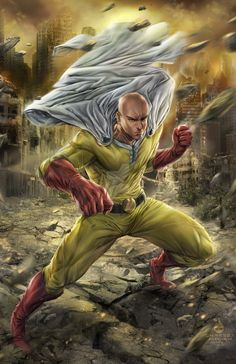 One Punch Man Saitama by christianamiel21.deviantart.com on @DeviantArt
