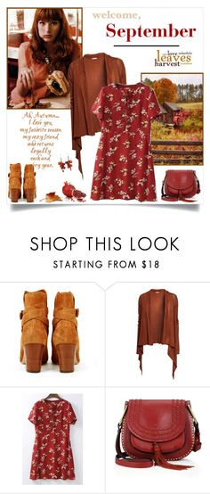 """""""Welcome, September"""" by annabu ❤ liked on Polyvore featuring ALEA, Michel Vivien, H&M, WithChic, Chloé, PAM, Fall, floralprint, september and falloutfit"""