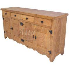 Buffet 2,00 x 0,40 4 Portas 4 Gavetas em Cerejeira - 4887 Sandro, Buffet, Cabinet, Storage, Furniture, Home Decor, Wooden Art, Art Furniture, Rustic Art