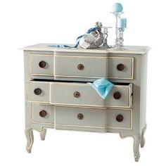 Mango wood chest of drawers in grey W 98cm - Beaumanoir