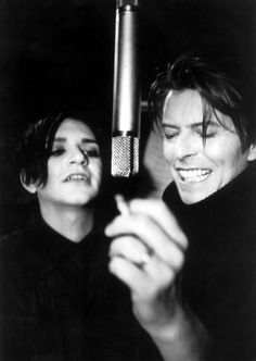 david bowie. brian molko. my brain just exploded from happiness.