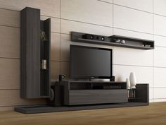 sophisticated entertainment home center ideas result Contemporary Tv Units, Modern Tv Wall Units, Contemporary Furniture, Living Room Tv Unit Designs, Living Room Wall Units, Bar Design, Tv Wall Design, Tv Cabinet Design Modern, Tv Unit Furniture