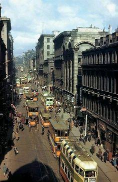 Random Streets of Scotland: Renfield Street, Glasgow. Scotland History, Uk History, Glasgow Scotland, Edinburgh, Scotland Travel, Old Images, Old Photos, Vintage Photos, Ricos World