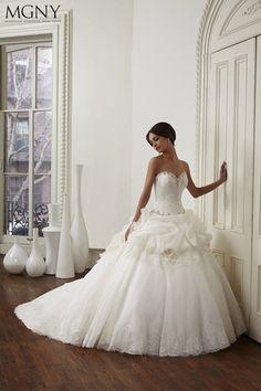 Vestido elegante y romántico de MGNY