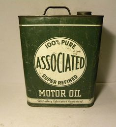 Antique Motor Oil Can Associated 2 gal. by BigAlsKollects on Etsy, $150.00