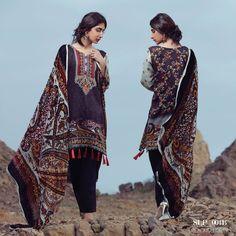 Sana & Samia Linen Plachi Dresses 2016-17 by Lala