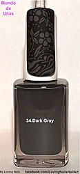 Mundo de Unas Stamping Polish Dark Gray (untried, mini)