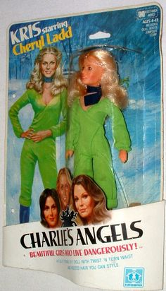 HASBRO: 1977 Charlie's Angels KRIS doll (Cheryl Ladd) #Vintage #Toys. I had Farah and Kate Jackson barbies. I'd still have them if gramp didn't send them to the Salvation army.