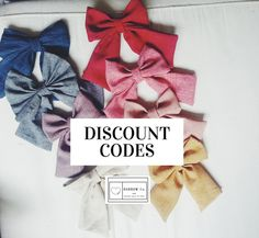 Girls oversized BOWS - back to school French Sailor Bow hair accessories discount codes