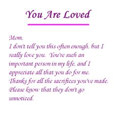 I Love You Mom Quotes Mom Quotes Mom Quotes From Daughter Love