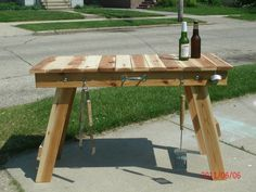 Folding Grill Table by Midwestclassiccrafts on Etsy https://www.etsy.com/listing/66941927/folding-grill-table