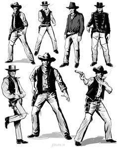 Western Gunslinger Concept Art by BlackWolfStudio on DeviantArt