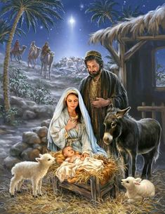 Remember the true meaning of Christmas with this beautiful puzzle. This gorgeous piece of artwork depicting the birth of Jesus and the coming of the 3 wise men is a truly awe-inspiring puzzle. Springbok Savior is Born Jigsaw Puzzle Christmas Nativity Scene, Christmas Scenes, The Nativity, Nativity Scenes, Christmas Wreaths, Image Jesus, Meaning Of Christmas, Jesus Pictures, Holy Family