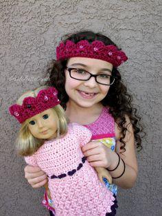 createbellacreate: Crochet Pattern: American Girl Tiara
