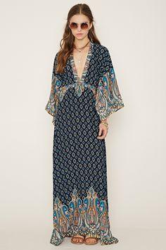 Ornate Print Maxi Dress   Forever 21 - 2000177586