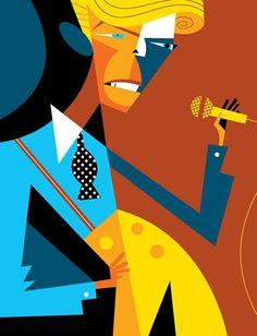 Pablo Lobato ~ David Bowie - www. Arte Pink Floyd, Musik Illustration, Picasso, David Bowie Art, Caricature Drawing, Music Artwork, Wow Art, Arte Pop, Art Graphique