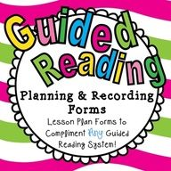 UPDATED!!  Guided Reading Planning & Recording Forms!  $