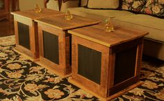 Storage Cube Coffee Table Rustic