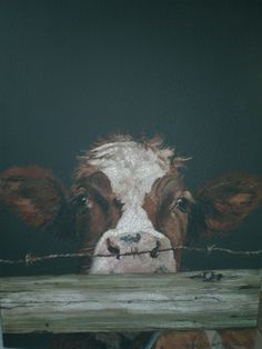 Cow art print wood print by junko van norman – Artofit Cow Pictures, Pictures To Paint, Cow Painting, Painting & Drawing, Farm Art, Cow Art, Western Art, Animal Paintings, Farm Animals
