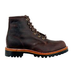 "Men's Chippewa® Vibram® 6"" Street Warrior Lace-up Boots Bay Apache Brown Chippewa. $169.99"