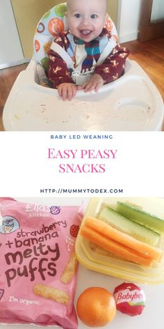 Baby Led Weaning Snacks ~ Including BLW Snacks on the Go A list of easy peasy snacks suitable for ba Baby Snacks, Fruit Snacks, Kid Snacks, Weaning Foods, Baby Led Weaning, Toddler Meals, Kids Meals, Toddler Food, Baby Meals