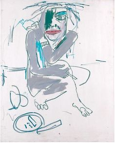 Jean-Michel Basquiat, Untitled (Call Girl) (1983) Acrylic and oil stick on canvas.
