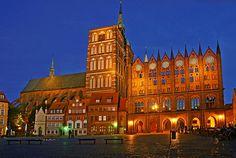 Old Market Square Stralsund Germany by David Davies