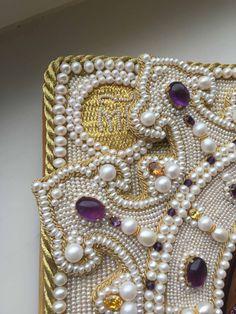 pearl embroidery (detail) -Larissa B.